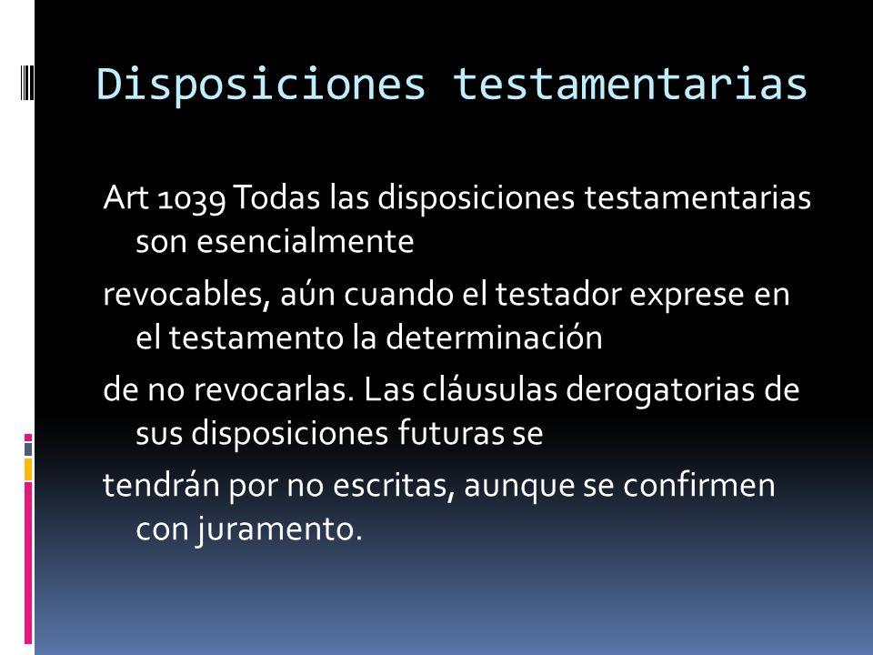 Disposiciones testamentarias