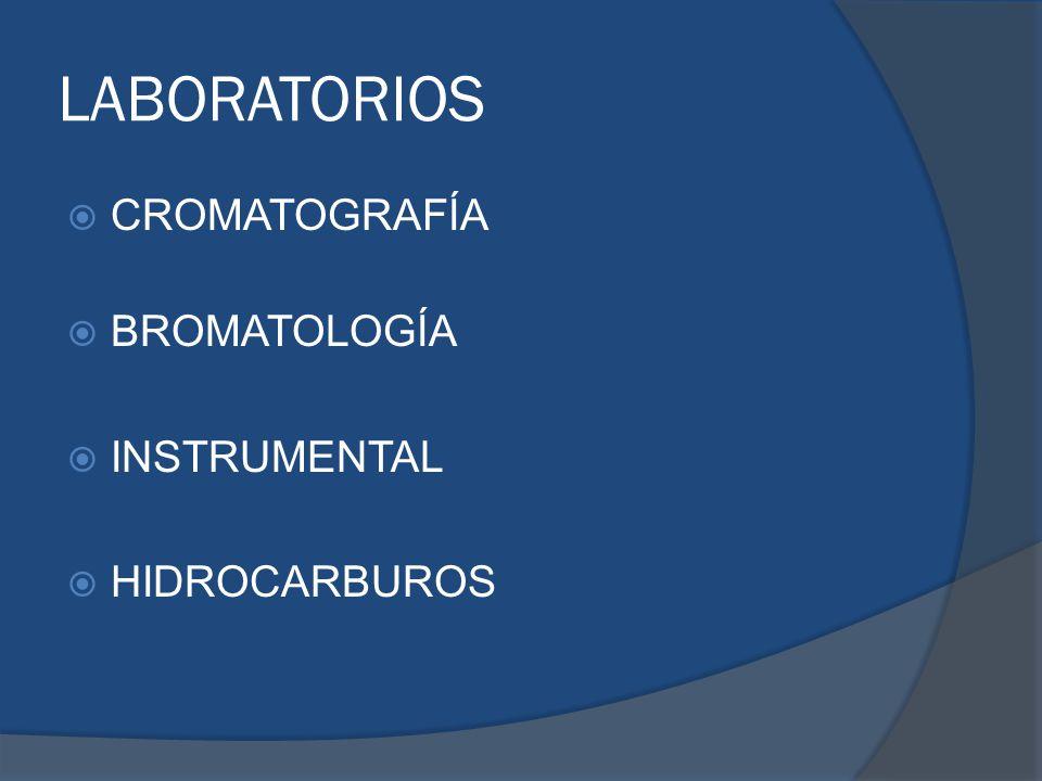 LABORATORIOS CROMATOGRAFÍA BROMATOLOGÍA INSTRUMENTAL HIDROCARBUROS
