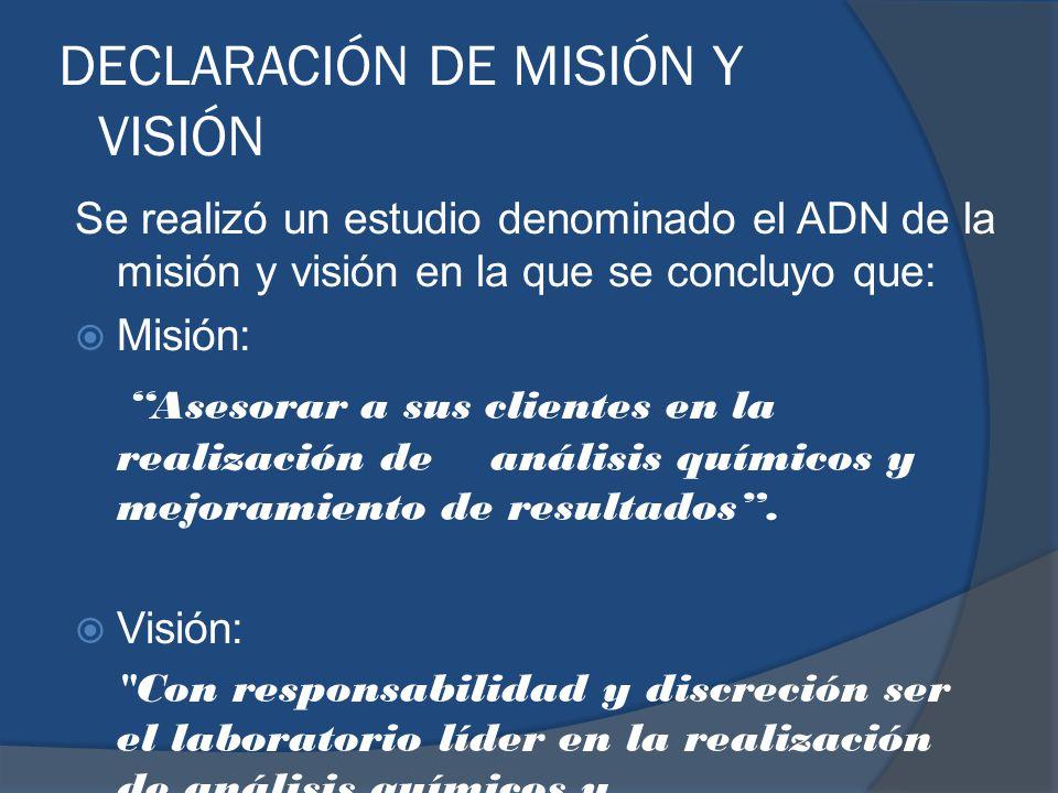 DECLARACIÓN DE MISIÓN Y VISIÓN