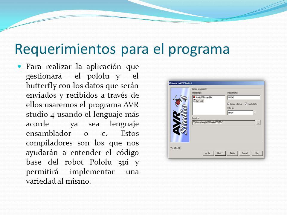 Requerimientos para el programa