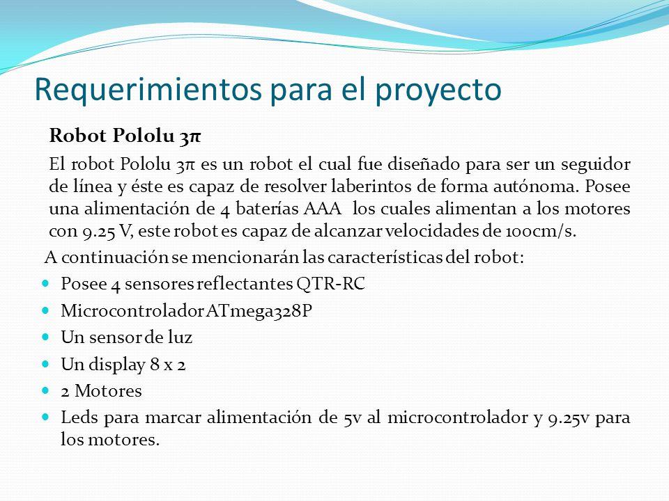 Requerimientos para el proyecto