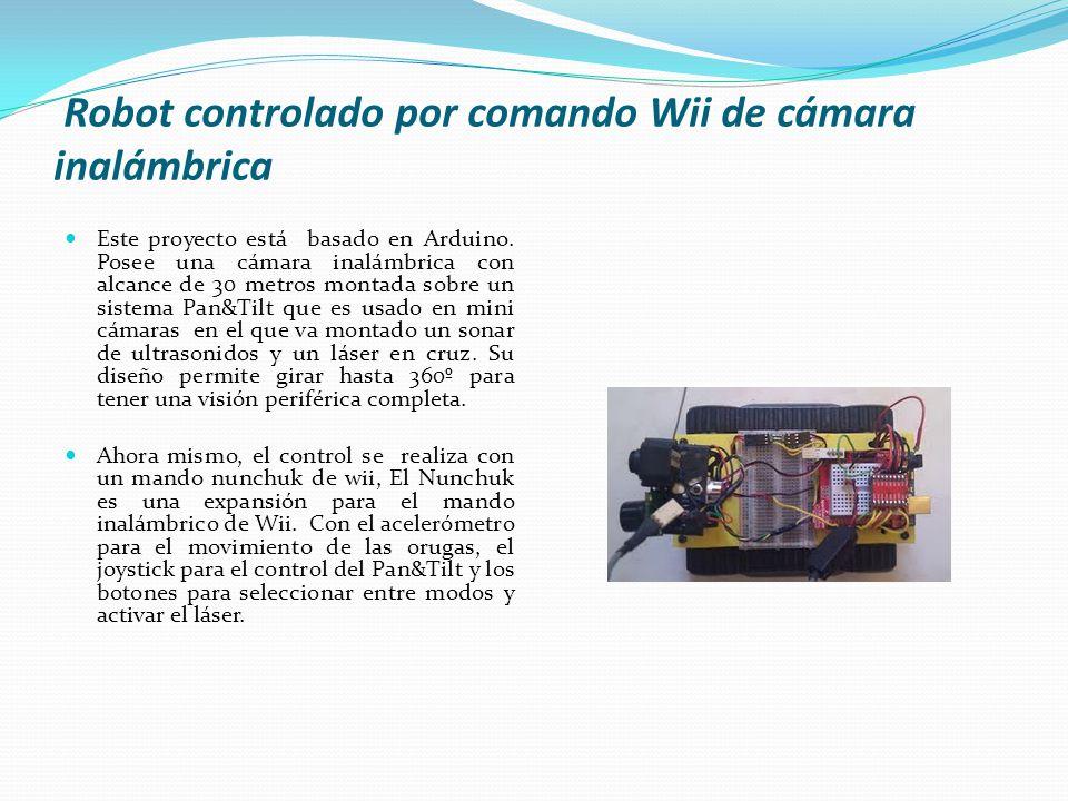 Robot controlado por comando Wii de cámara inalámbrica
