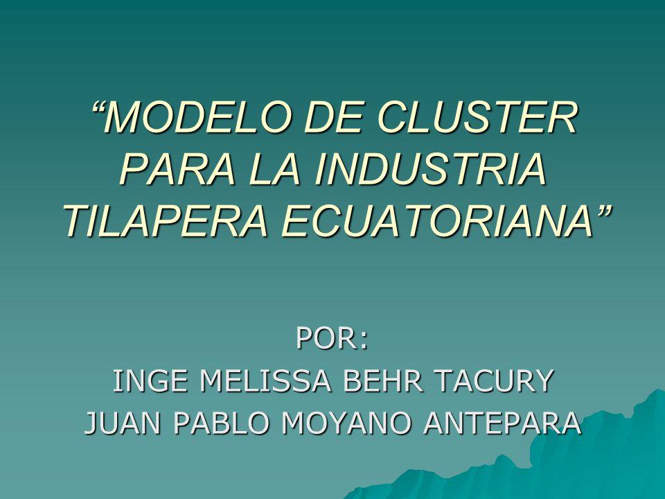 MODELO DE CLUSTER PARA LA INDUSTRIA TILAPERA ECUATORIANA
