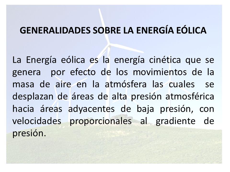 GENERALIDADES SOBRE LA ENERGÍA EÓLICA