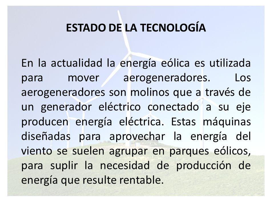ESTADO DE LA TECNOLOGÍA