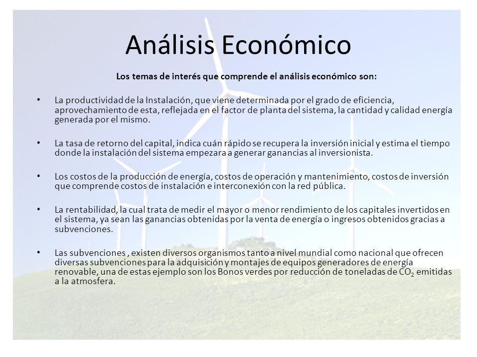Los temas de interés que comprende el análisis económico son: