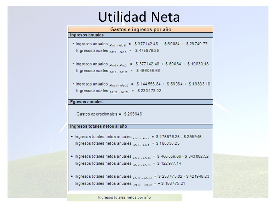 Utilidad Neta
