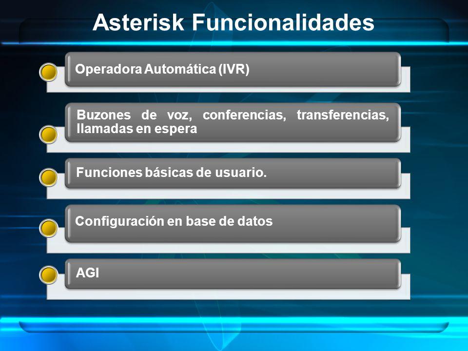 Asterisk Funcionalidades
