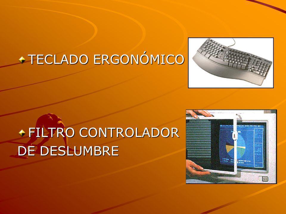 TECLADO ERGONÓMICO FILTRO CONTROLADOR DE DESLUMBRE