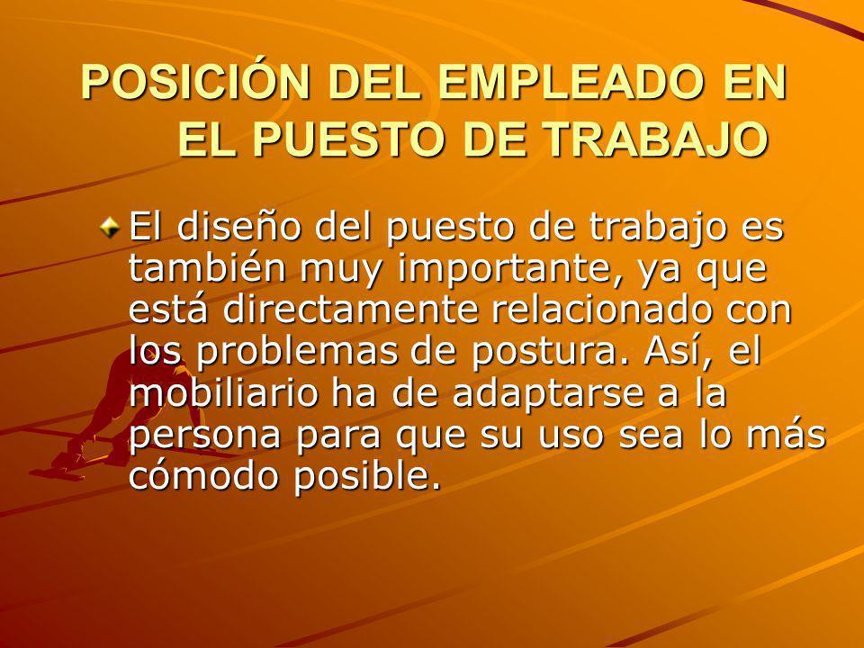 POSICIÓN DEL EMPLEADO EN EL PUESTO DE TRABAJO