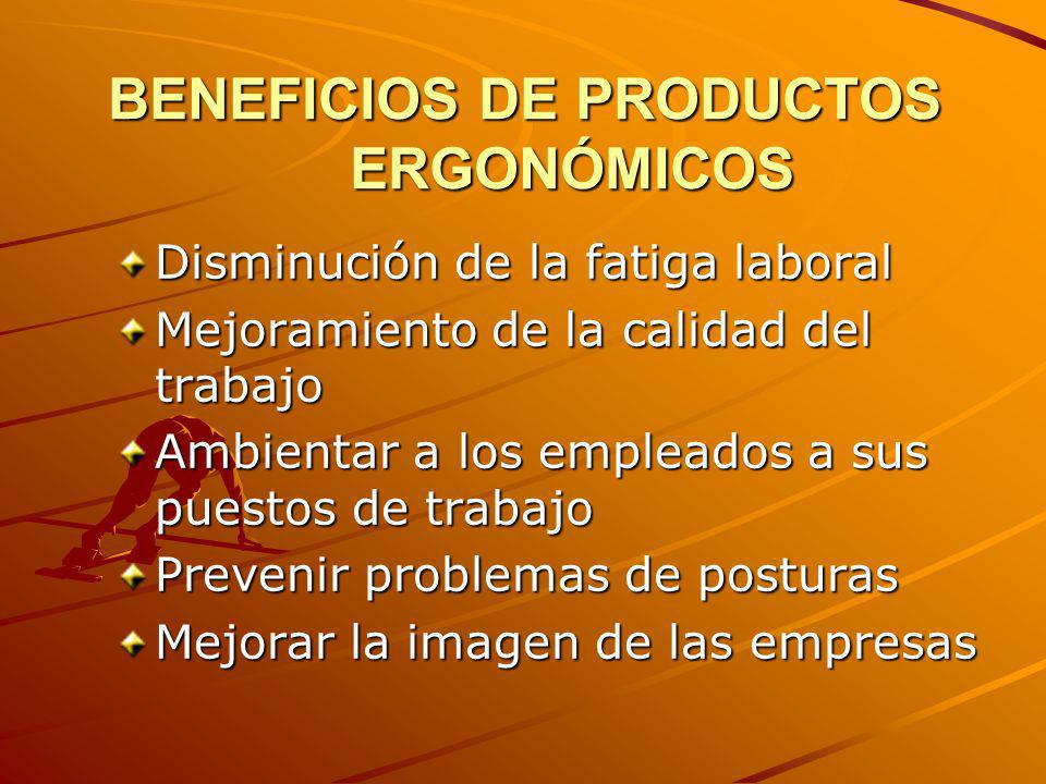 BENEFICIOS DE PRODUCTOS ERGONÓMICOS