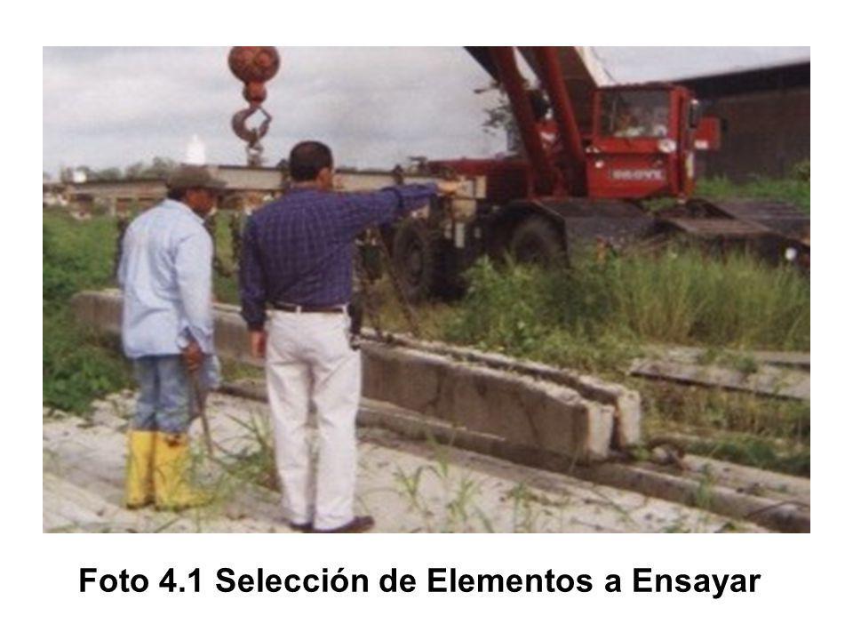 Foto 4.1 Selección de Elementos a Ensayar