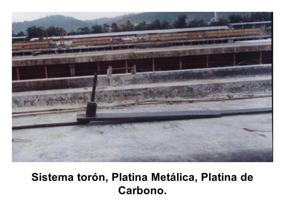 Sistema torón, Platina Metálica, Platina de Carbono.