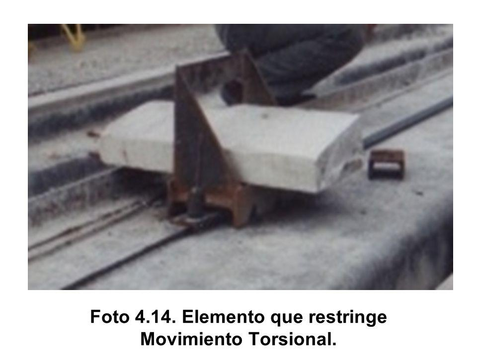 Foto 4.14. Elemento que restringe Movimiento Torsional.