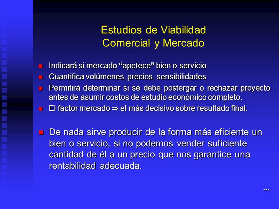 Estudios de Viabilidad Comercial y Mercado