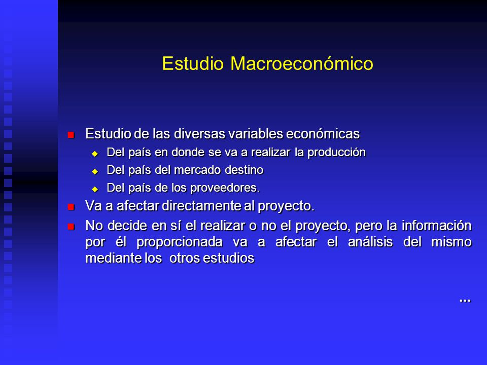 Estudio Macroeconómico