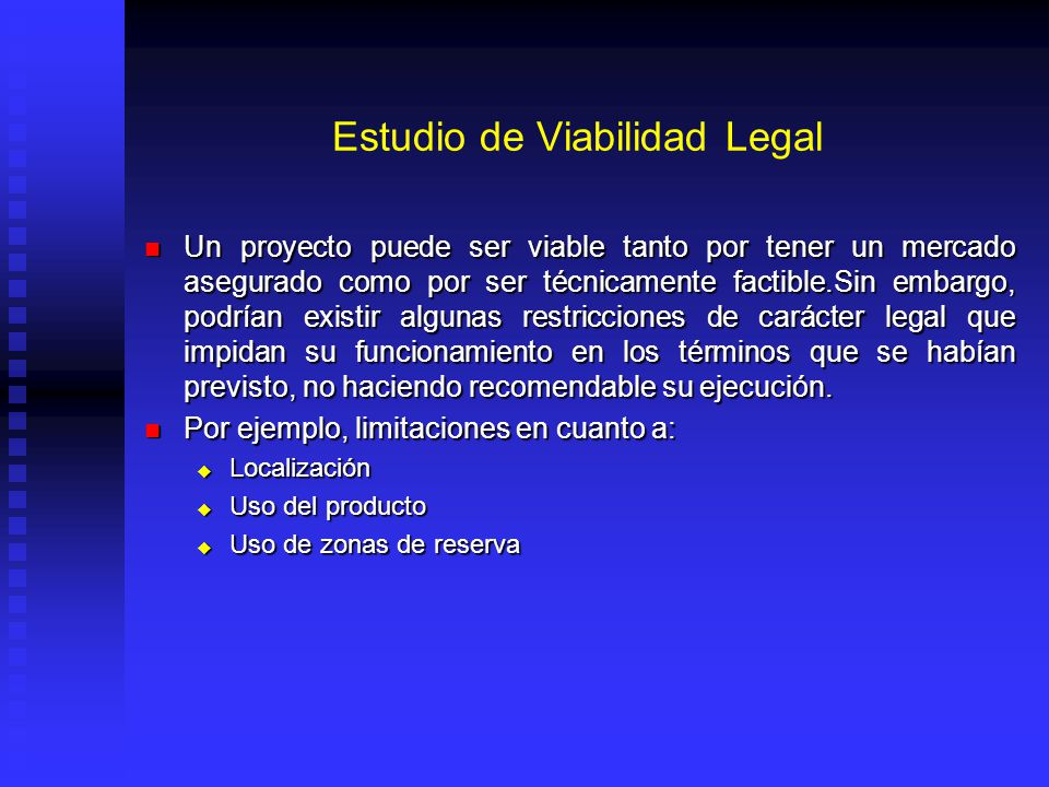 Estudio de Viabilidad Legal