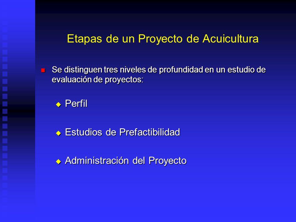 Etapas de un Proyecto de Acuicultura