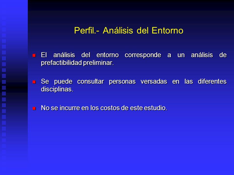 Perfil.- Análisis del Entorno