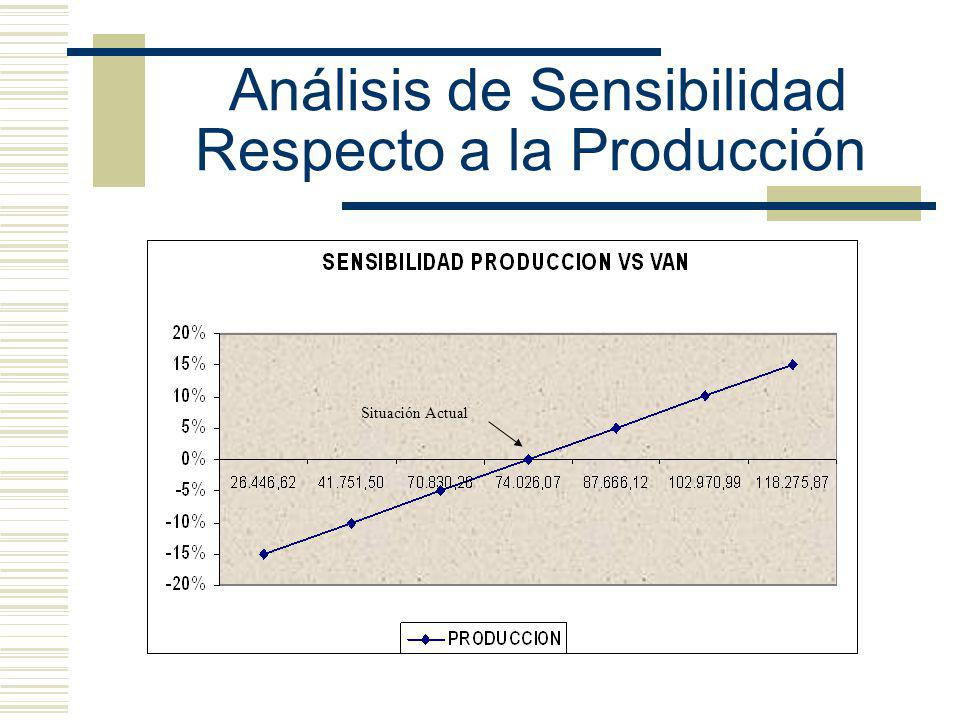 Análisis de Sensibilidad Respecto a la Producción