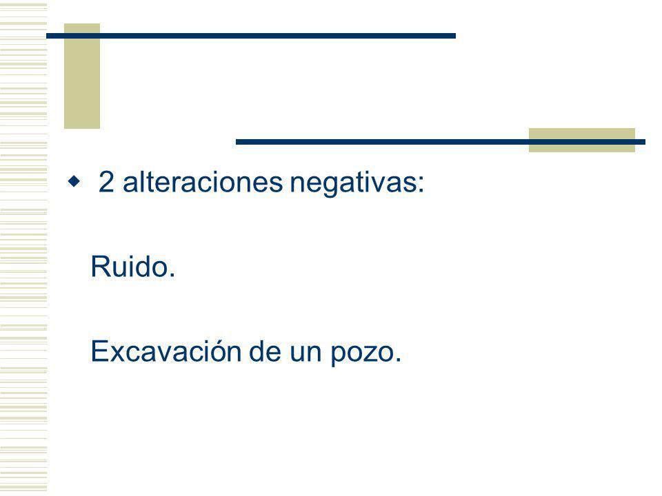 2 alteraciones negativas: