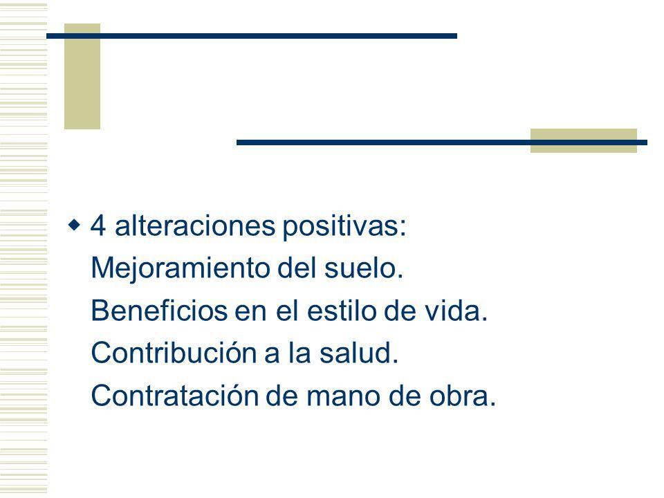 4 alteraciones positivas: