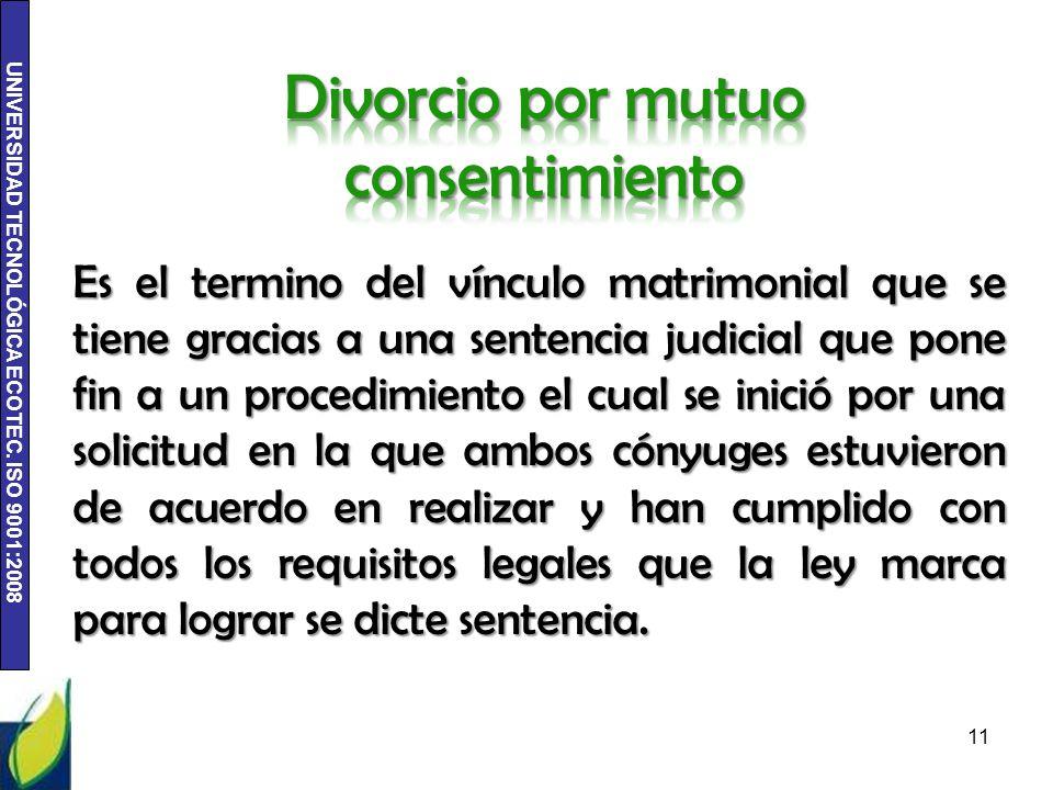 Divorcio por mutuo consentimiento