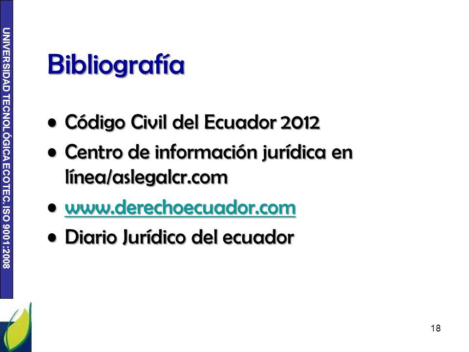 Bibliografía Código Civil del Ecuador 2012