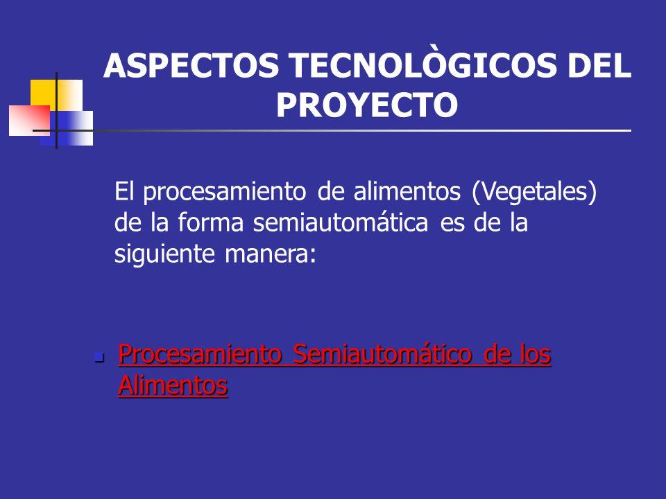ASPECTOS TECNOLÒGICOS DEL PROYECTO