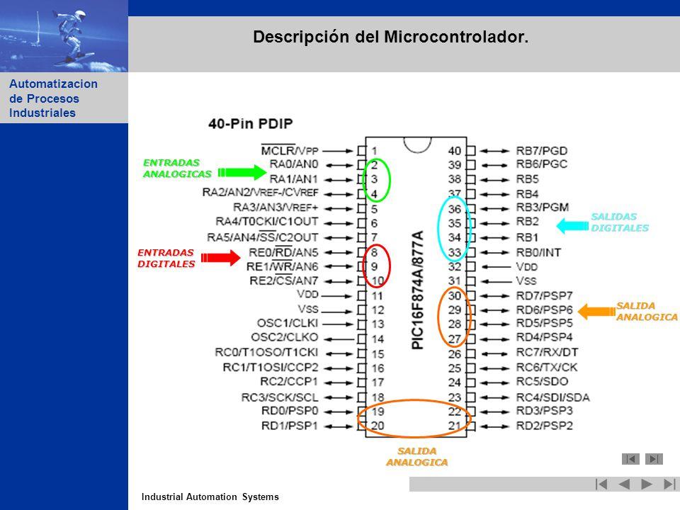 Descripción del Microcontrolador.