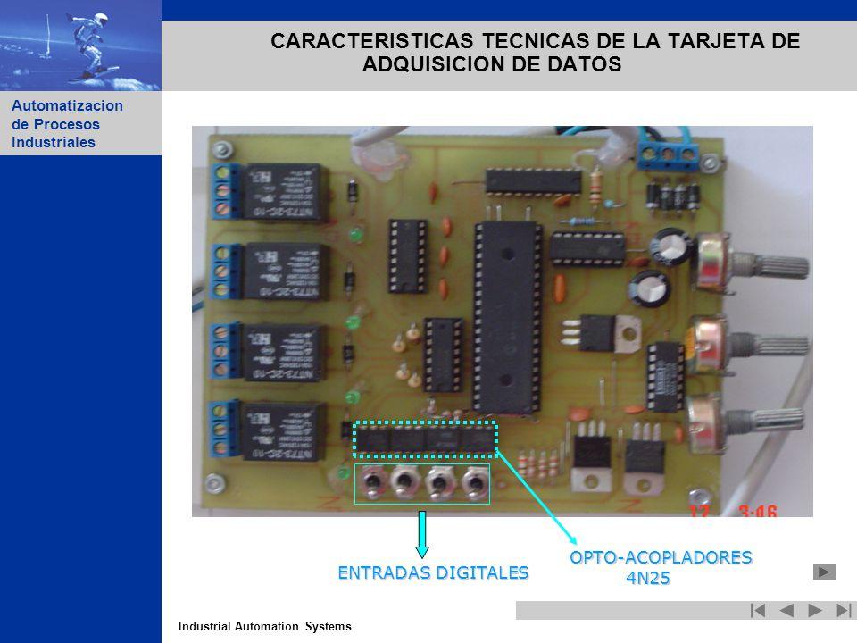CARACTERISTICAS TECNICAS DE LA TARJETA DE ADQUISICION DE DATOS
