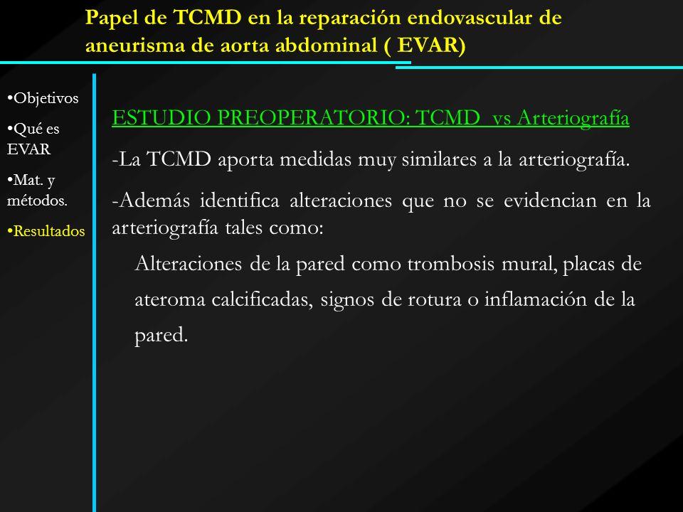 ESTUDIO PREOPERATORIO: TCMD vs Arteriografía
