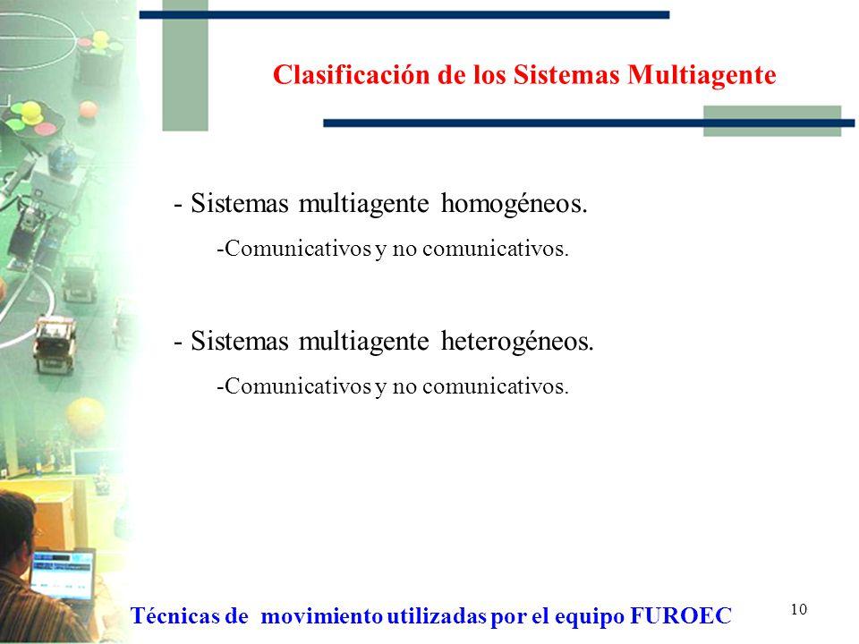 Clasificación de los Sistemas Multiagente