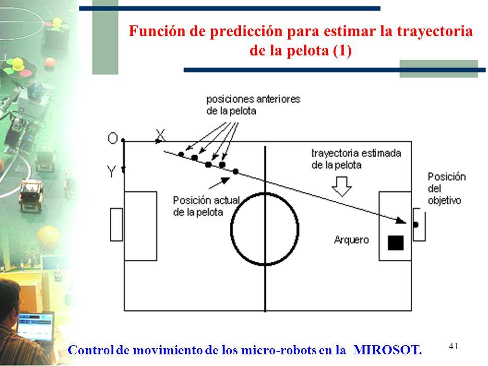 Función de predicción para estimar la trayectoria de la pelota (1)