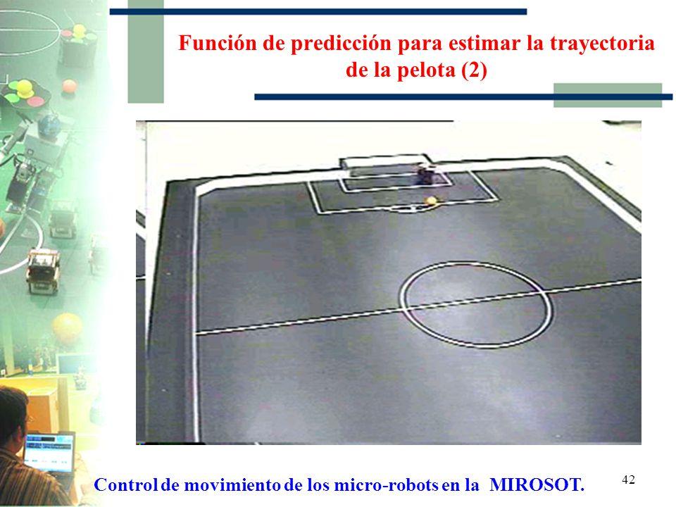 Función de predicción para estimar la trayectoria de la pelota (2)
