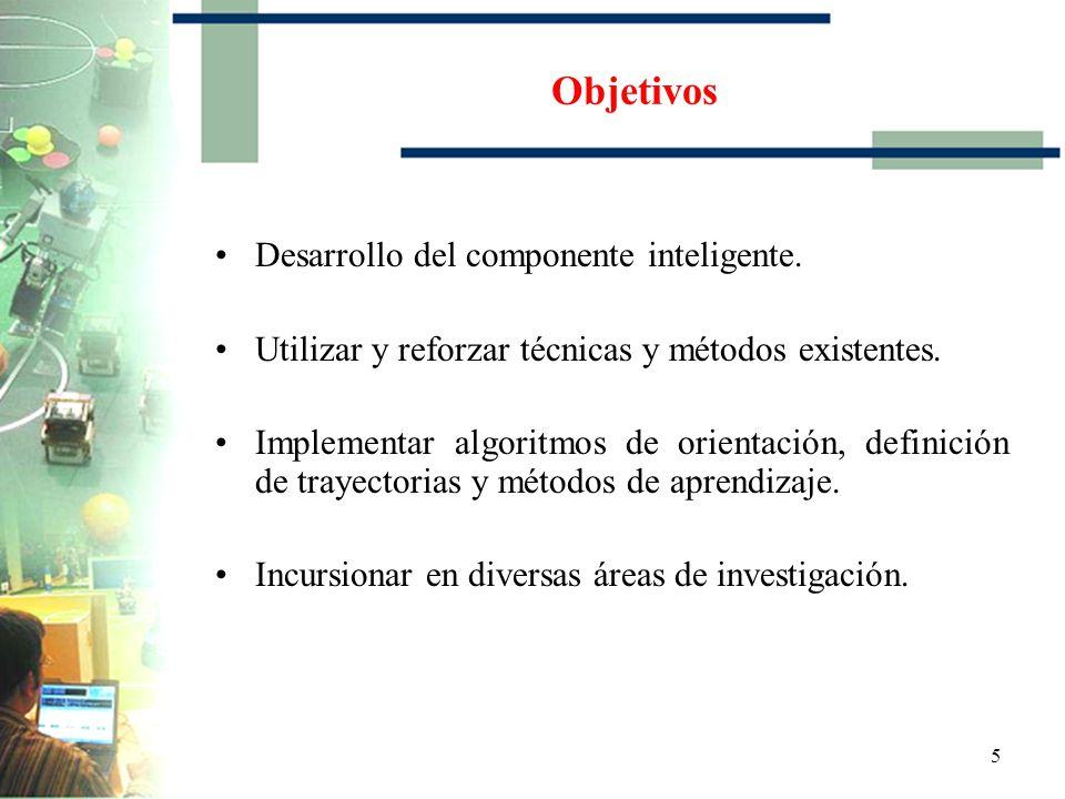 Objetivos Desarrollo del componente inteligente.