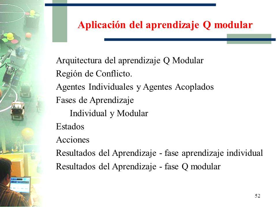 Aplicación del aprendizaje Q modular