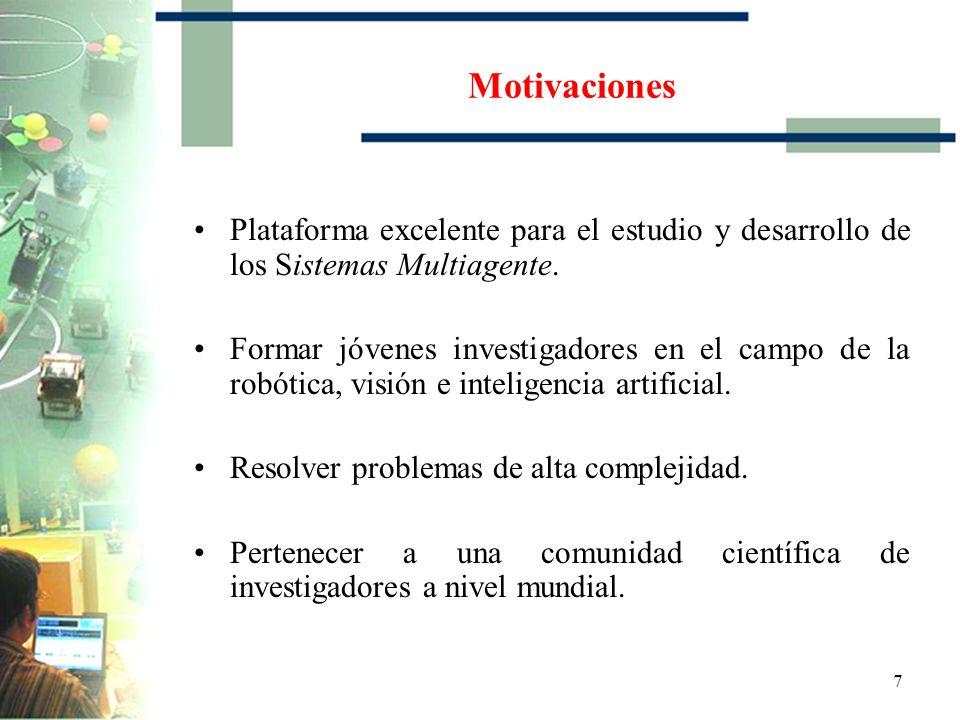 Motivaciones Plataforma excelente para el estudio y desarrollo de los Sistemas Multiagente.