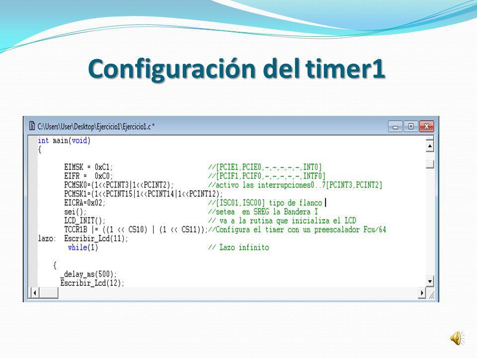 Configuración del timer1