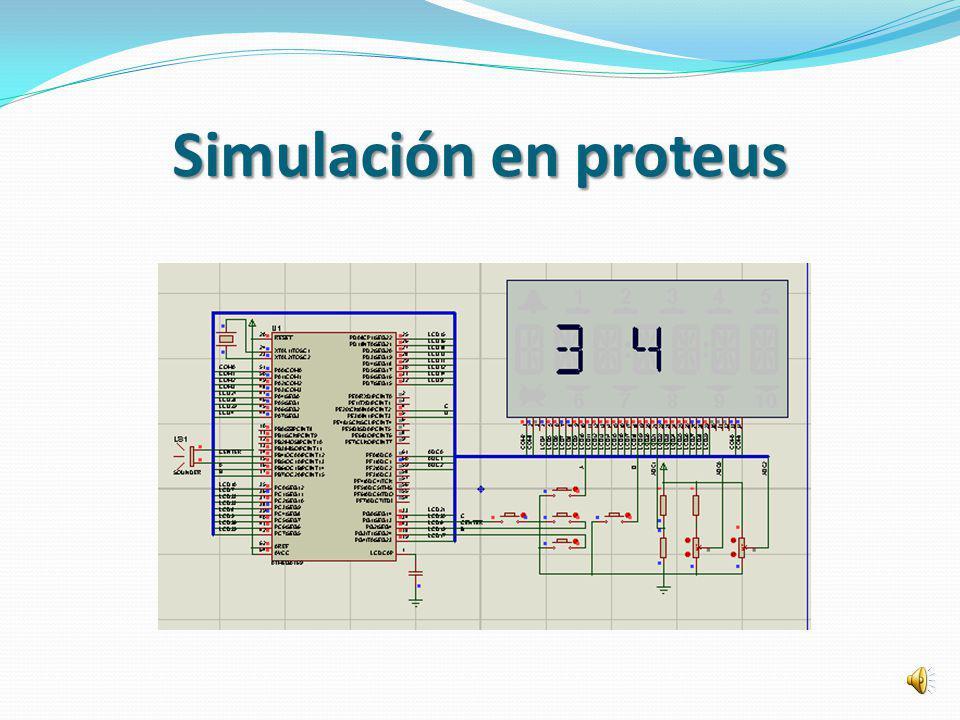 Simulación en proteus