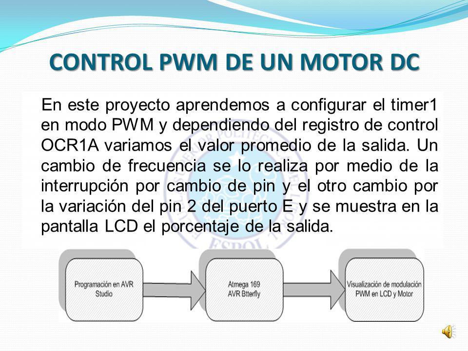 CONTROL PWM DE UN MOTOR DC