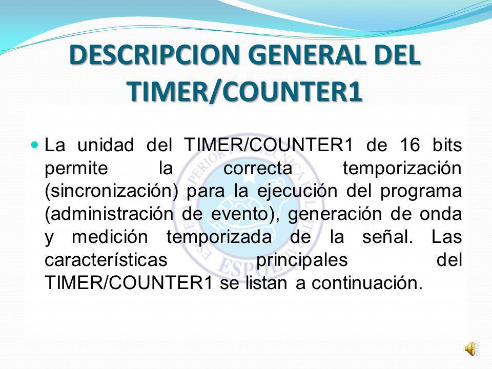 DESCRIPCION GENERAL DEL TIMER/COUNTER1