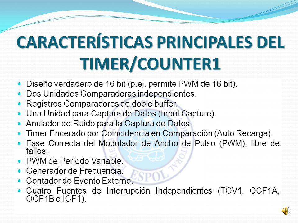 CARACTERÍSTICAS PRINCIPALES DEL TIMER/COUNTER1
