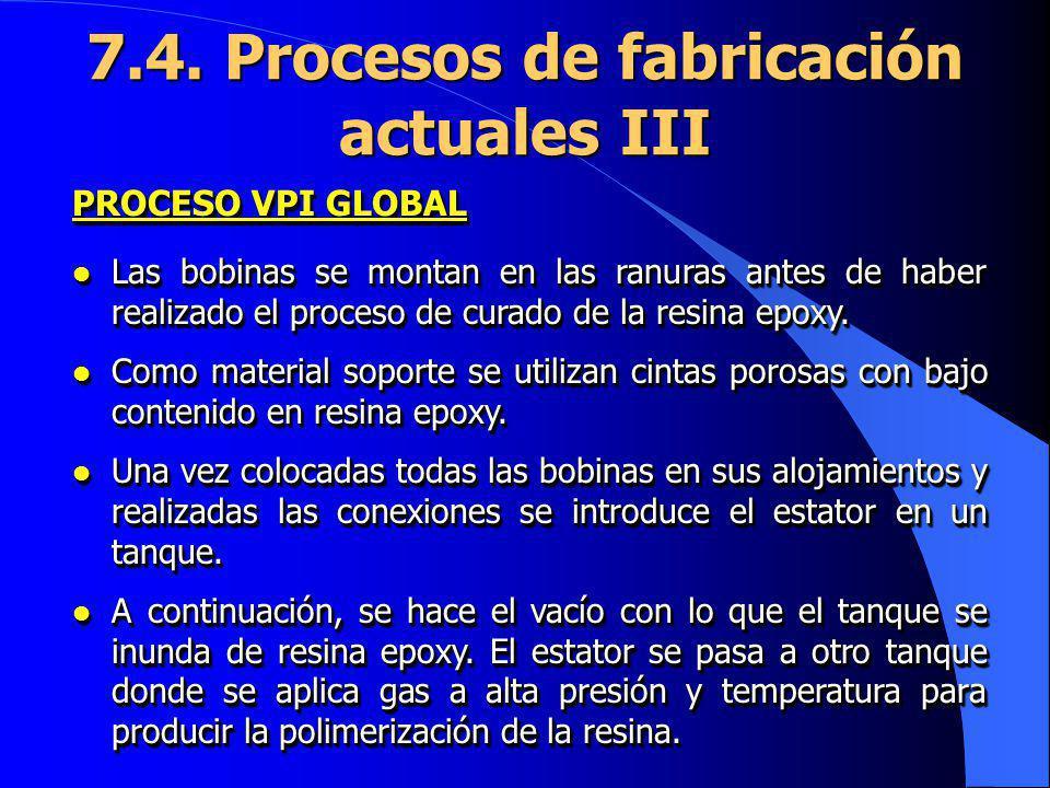 7.4. Procesos de fabricación actuales III