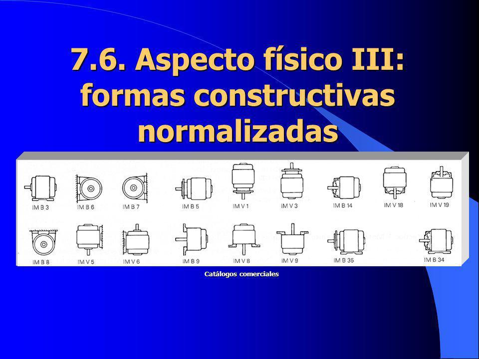 7.6. Aspecto físico III: formas constructivas normalizadas