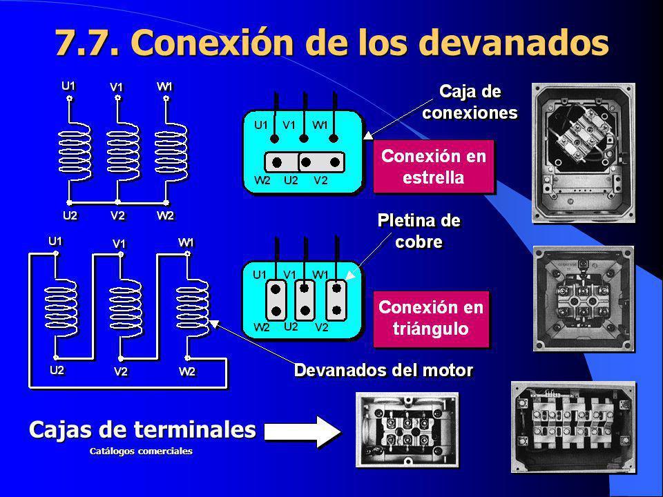 7.7. Conexión de los devanados