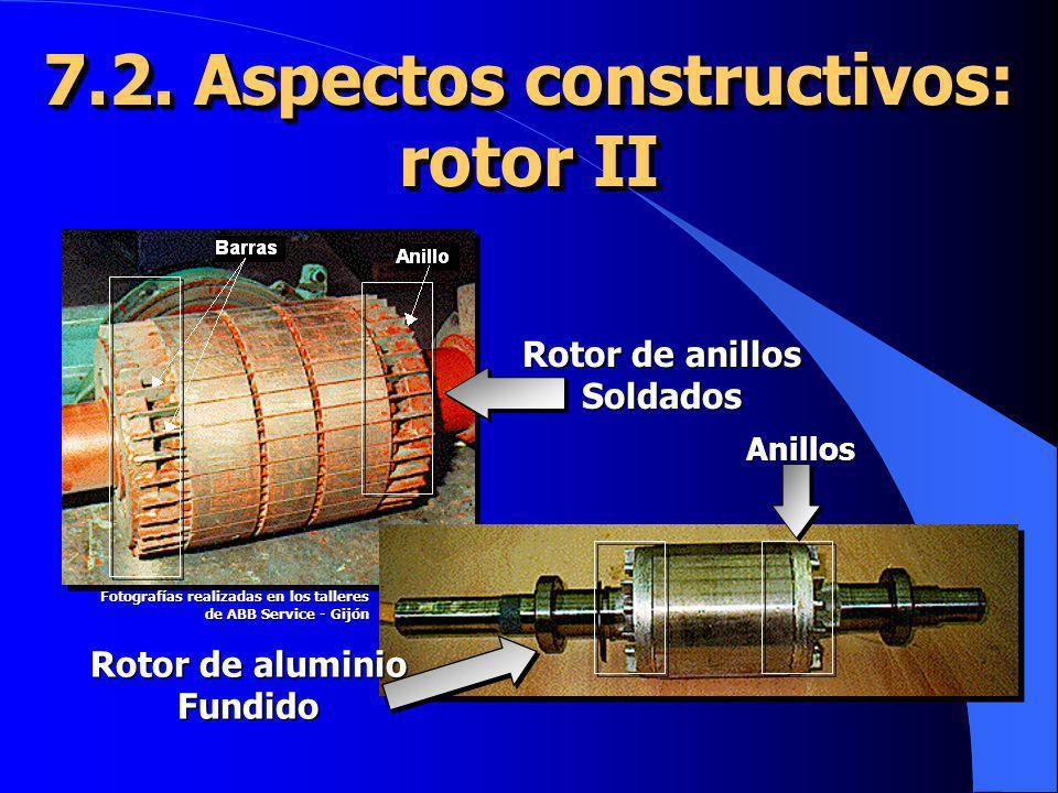 7.2. Aspectos constructivos: rotor II