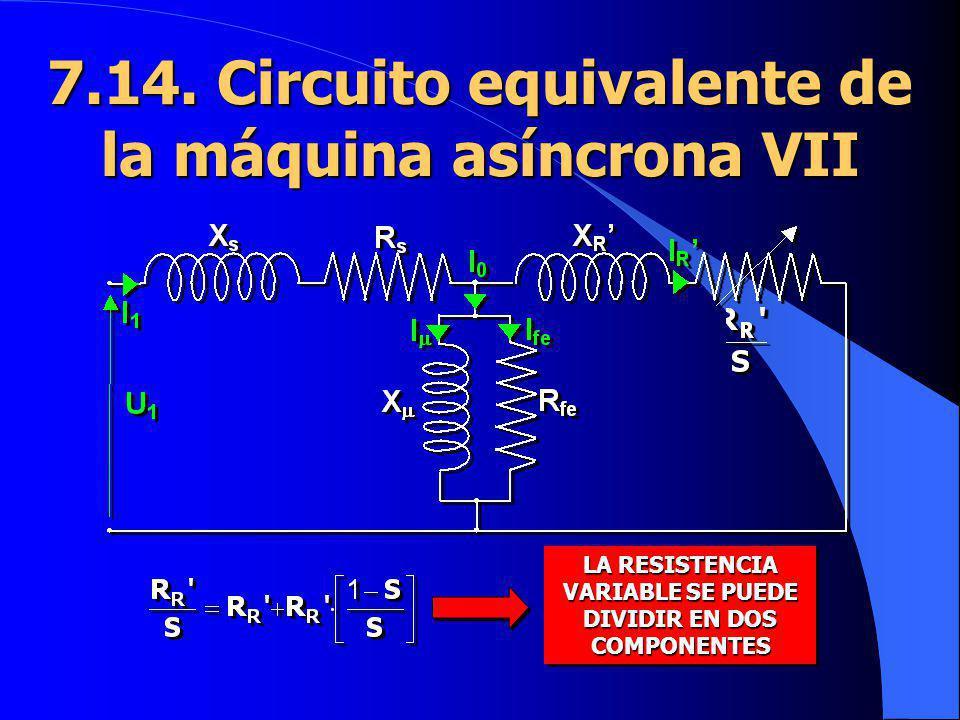 7.14. Circuito equivalente de la máquina asíncrona VII