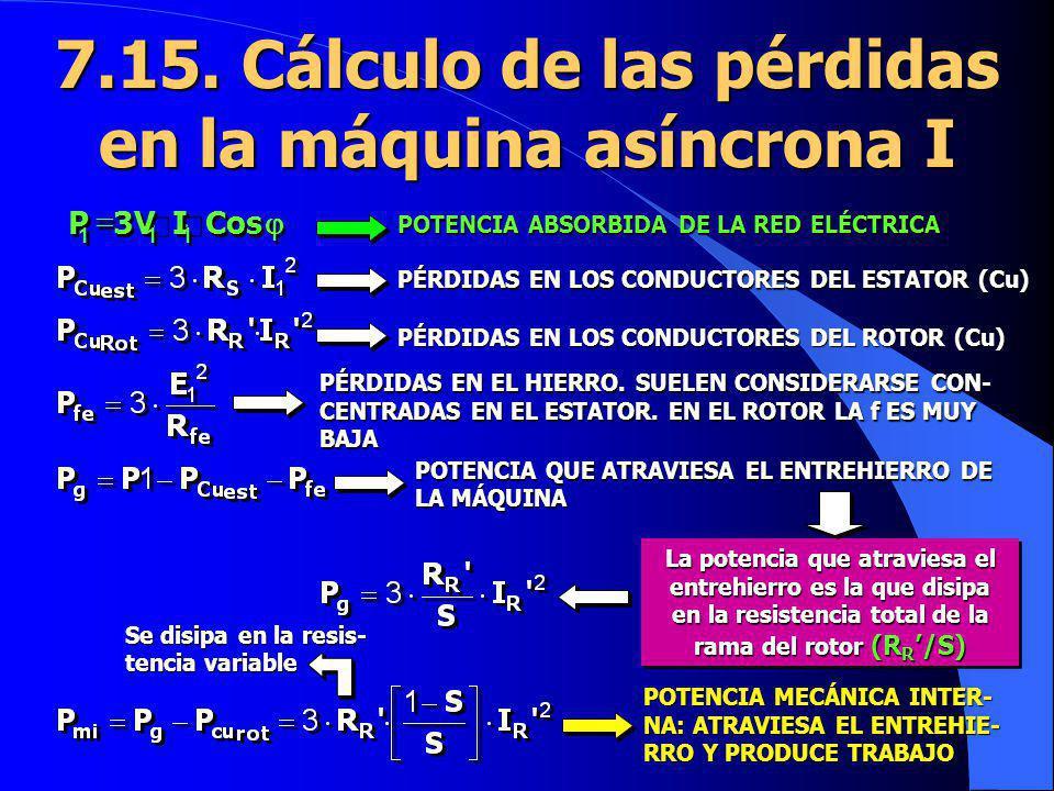 7.15. Cálculo de las pérdidas en la máquina asíncrona I