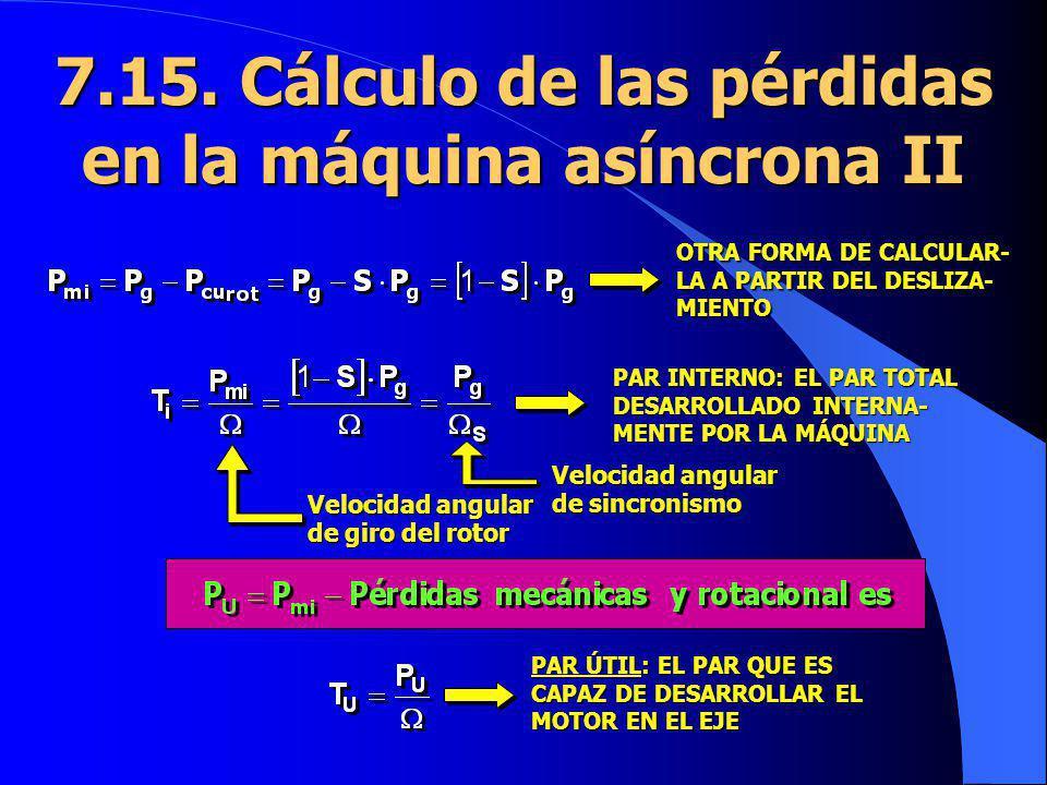 7.15. Cálculo de las pérdidas en la máquina asíncrona II